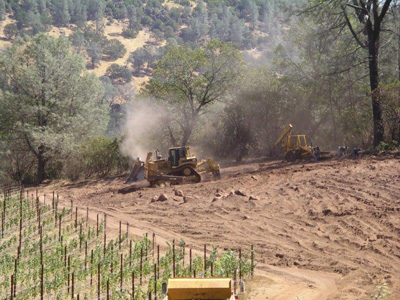 Vineyard development for the Napa County area.